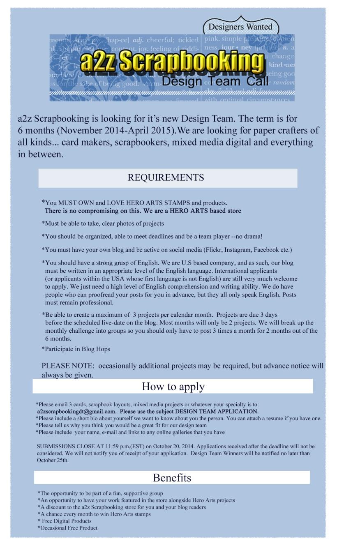 a2z design team call form copy