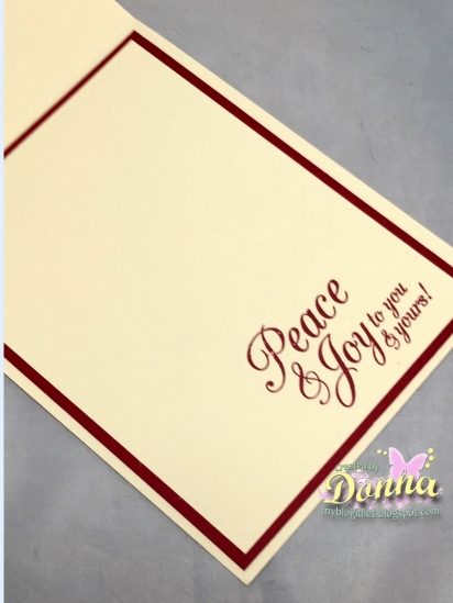 Donna inside of card