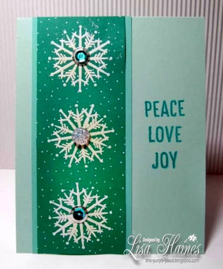 Peace Love Joy Snowflakes a2z