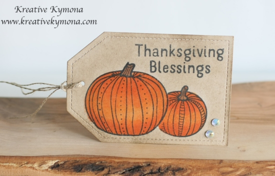 Thanksgiving Blessing tag