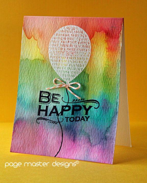 Be happy watercolor background