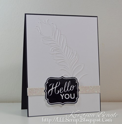Hello You Faux Embossing with Kristina