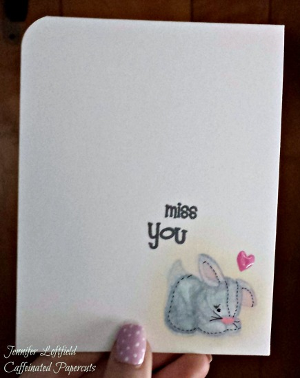 Miss You Baby Animal Card Jennifer