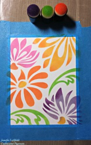 large lotus stencil background jennifer