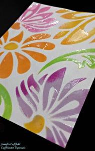 stenciled background clear paste jennifer