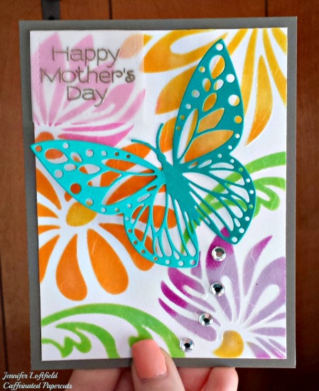 stenciled embossed mothers day card jennifer