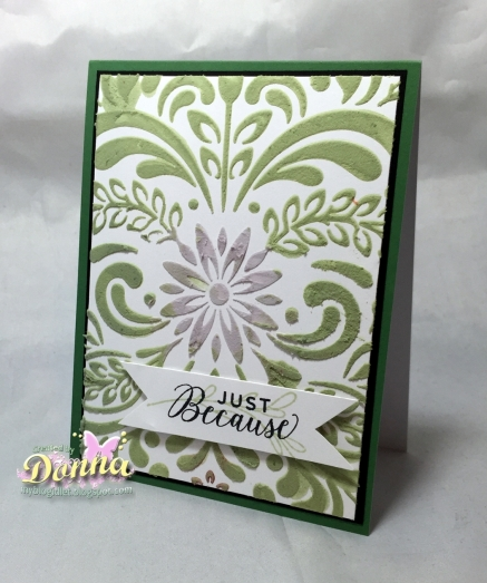 a2z August Challenge - embossing