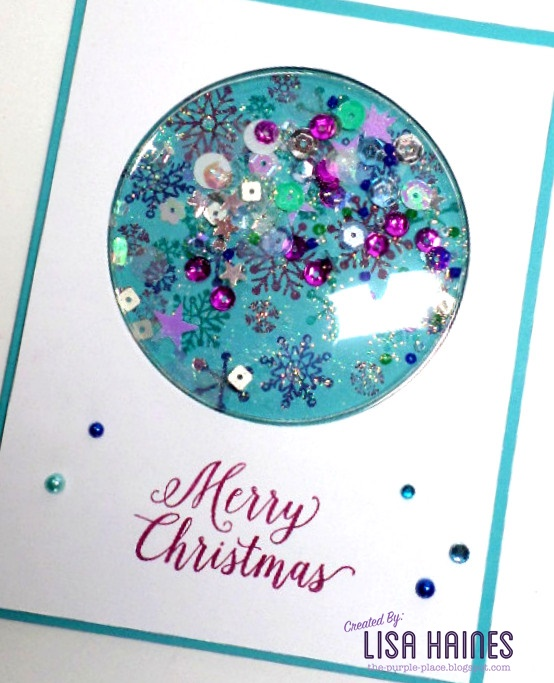 Christmas Shaker Card A2z Scrapbooking Supplies