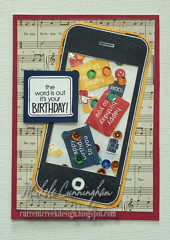 Cell phone shaker card a2z scrapbooking supplies samsung camera pictures bookmarktalkfo Image collections