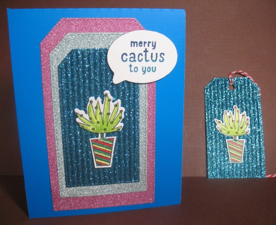 A2Z Dec Cactus card and tag 2015