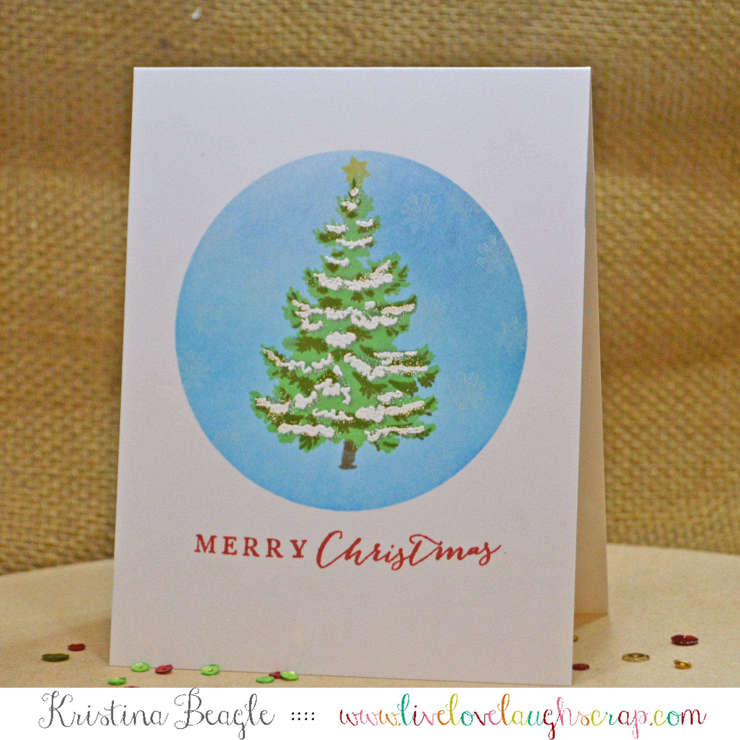 A One Layer Christmas Card | a2z Scrapbooking Supplies