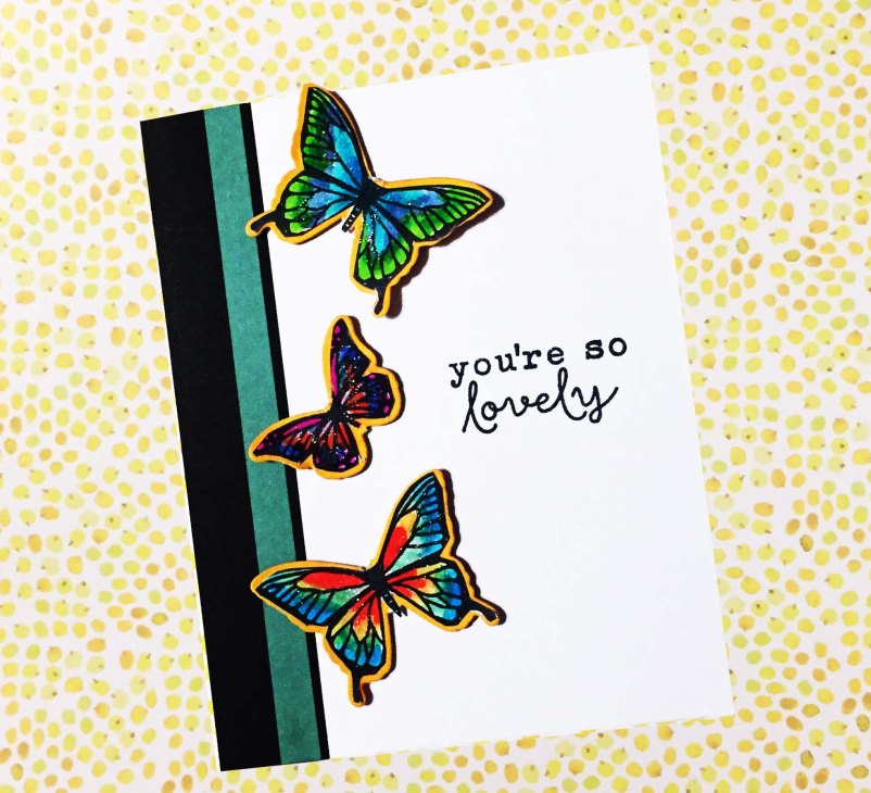 Hero Arts Butterfly Pair Stamp & Cut DC182