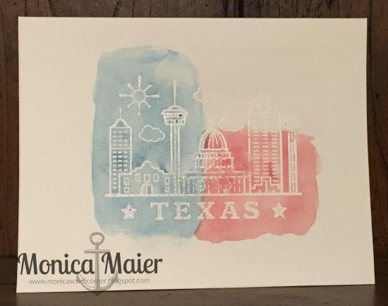 TX watercolor card