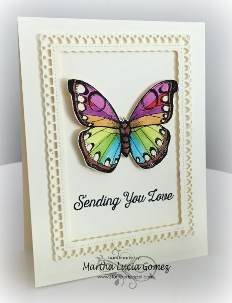 Celebrate Tag Stamp Set and Flutterbies Butterfly Digital by Hero Arts