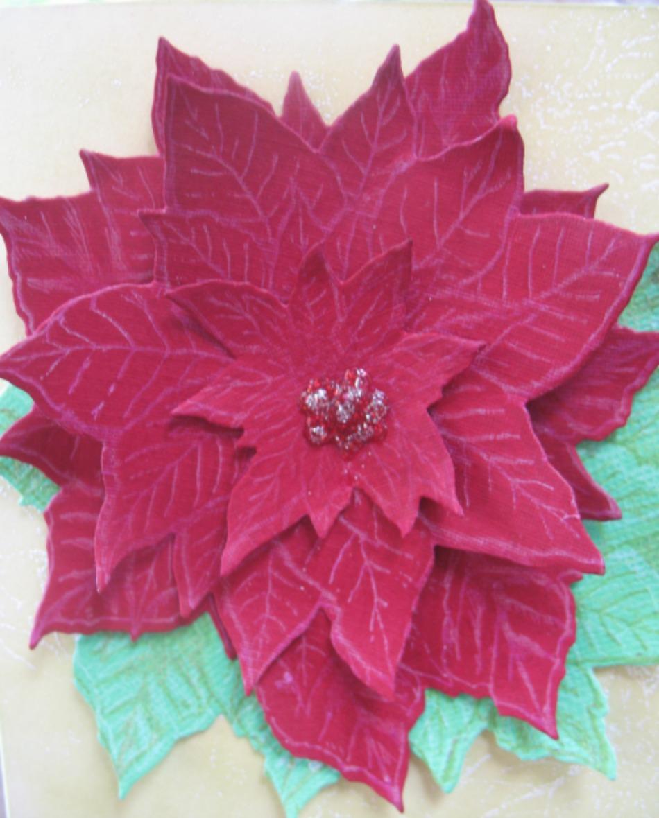 Hero Arts Antique Poinsettia