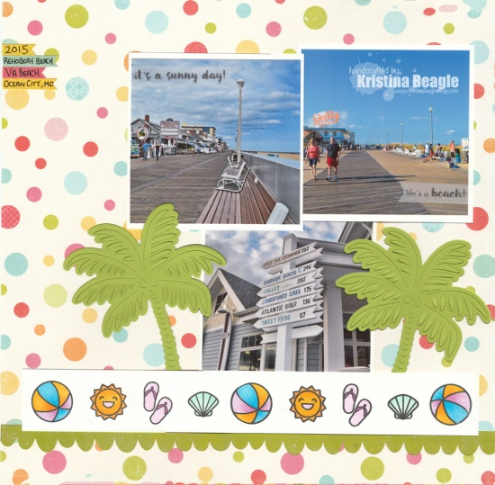 Hero Arts Beach Scrapbook Layout