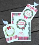 Card and Tags - Christmas wreath