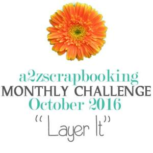 a2z scrapbooking October Challenge