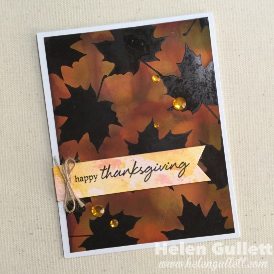 Hero Arts: Happy Thanksgiving Mixed Media Card