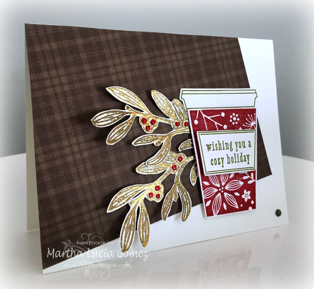 Coffee Christmas Cards.Hero Arts Coffee Cup For Christmas Card A2z Scrapbooking