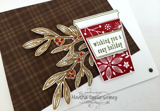 HERO ARTS COFFEE CUP FOR CHRISTMAS CARD