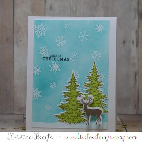 Hero Arts Color Layering Snowy Tree