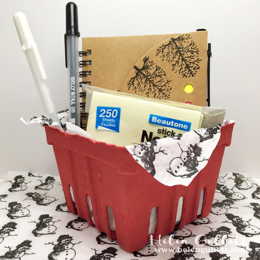 diy gift basket with hero arts vintage christmas wishes stamp set - Vintage Christmas Gifts