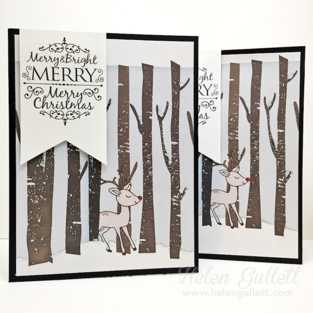 a2z Scrapbooking: Christmas Cards with Hero Arts Digital Kit