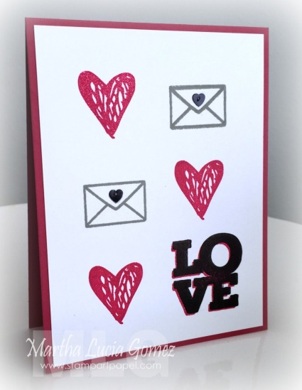 VALENTINE CARD WITH LOVE IS BY LIA