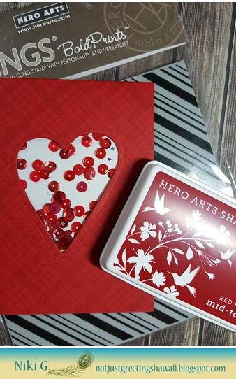 Hero Arts Valentine Shaker