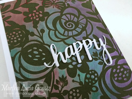 BOLD FLORAL STENCIL FROM HERO ARTS