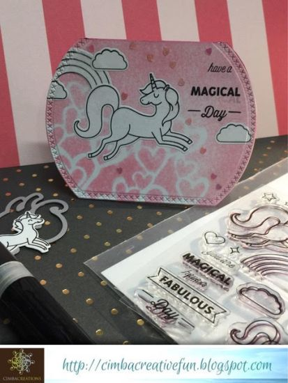 unicorn semi round card