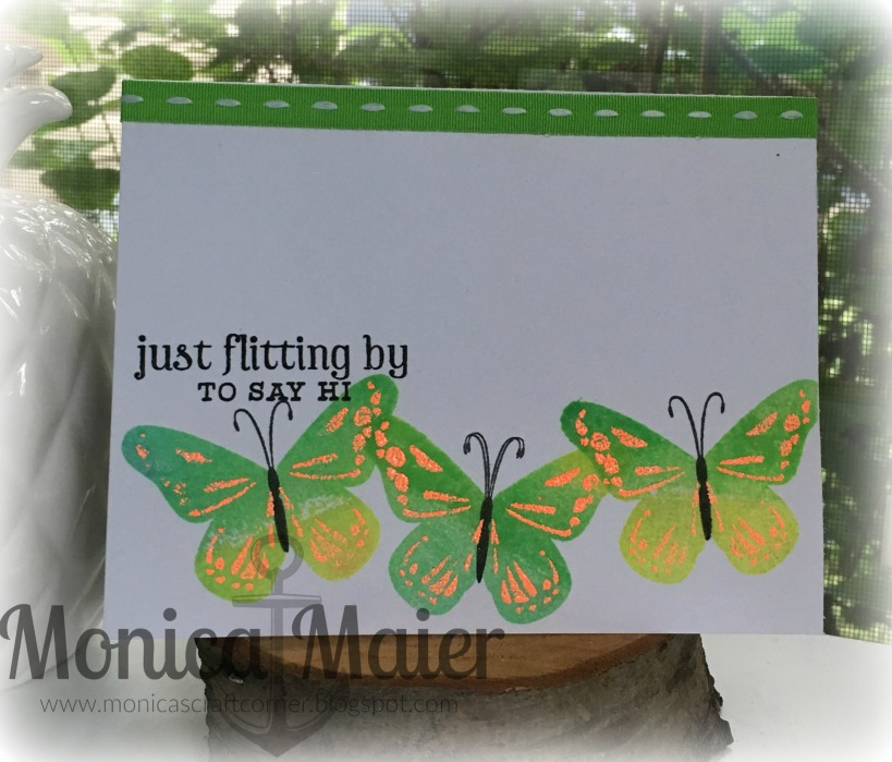 flitting by