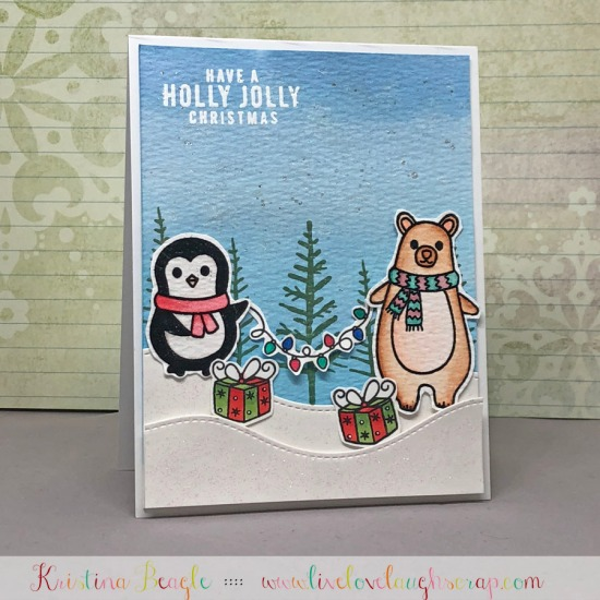 Hero Arts Holiday Animals Card