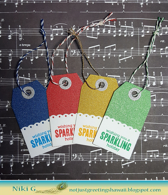 Sparkly Tags with Hero Arts
