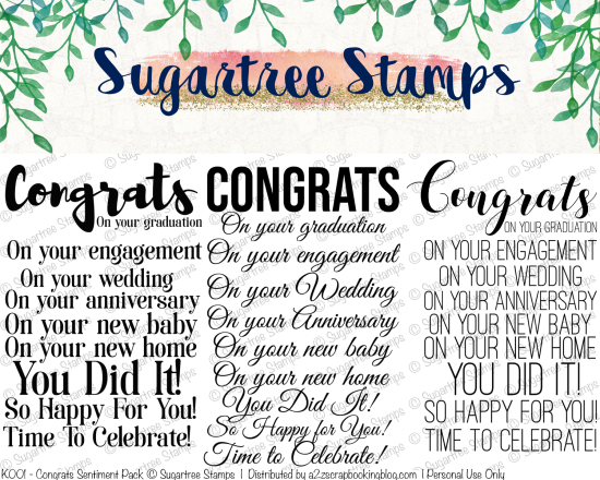 Congrats Digital Stamps and Cut Files