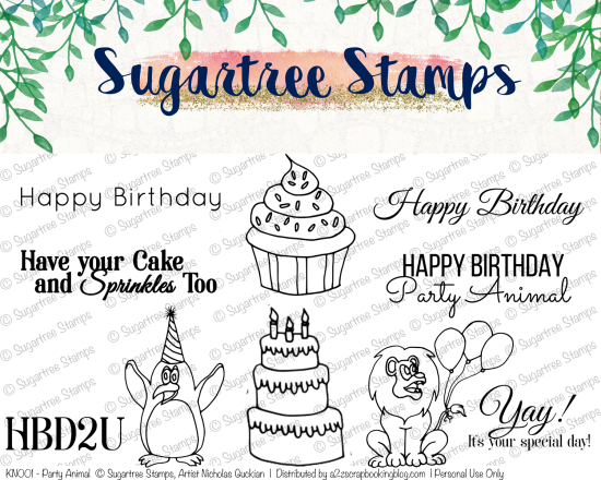 Birthday Digital Stamps