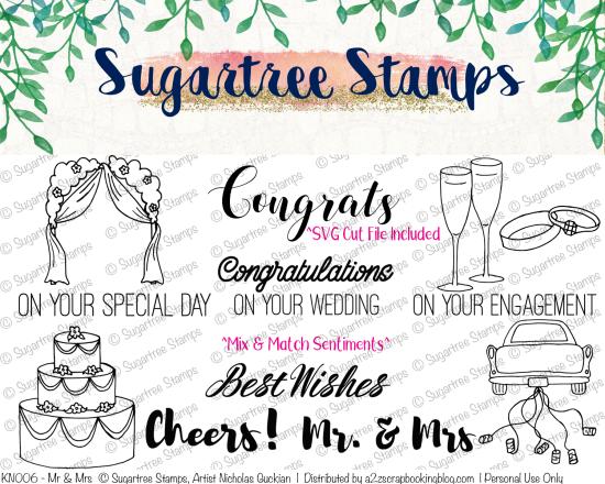 Wedding Digital Stamps