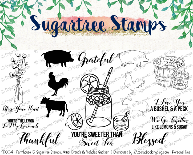 Southern digital stamps farmhouse