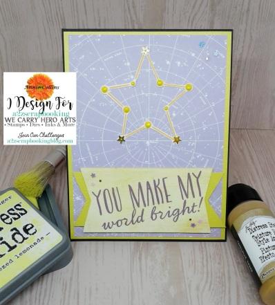 You Make my World Bright Card 1