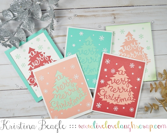 Card Set Handmade Hero Arts Very Merry Tree