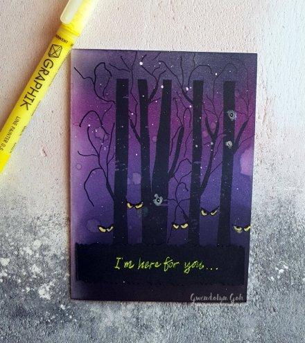 winter forest halloween pen