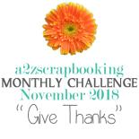 a2z scrapbooking november challenge