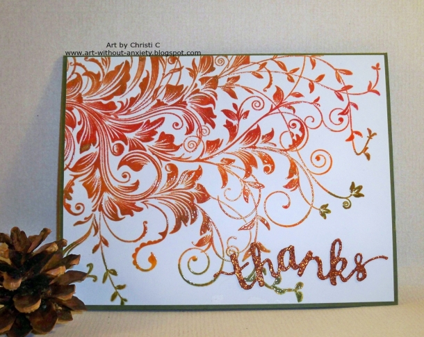Leafy Vines, Thank You Stamp & Cut
