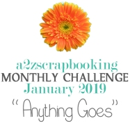 a2z scrapbooking anything goes January challenge