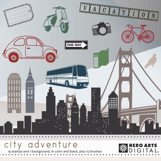 Hero Arts City Adventure Digital Kit