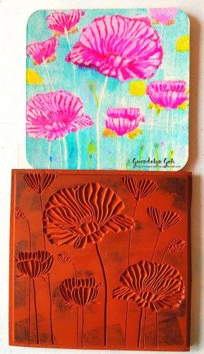 Poppy coaster stamp 2
