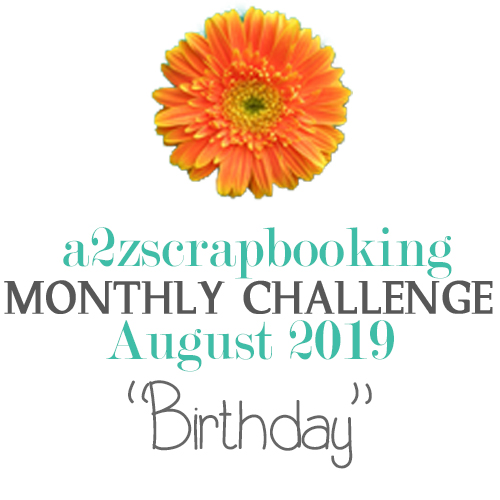 a2z scrapbooking august challenge