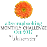 a2z scrapbooking watercolor challenge