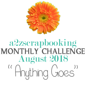 a2z scrapbooking august 2018 challenge